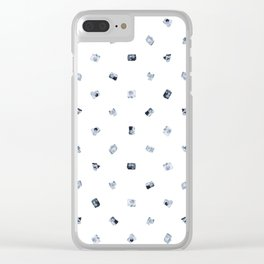 Vintage Cameras in Monochrome (Fine) Clear iPhone Case