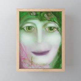 Green Woman Framed Mini Art Print