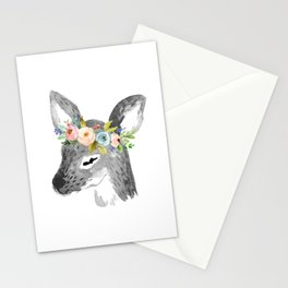 Floral Deer Stationery Cards