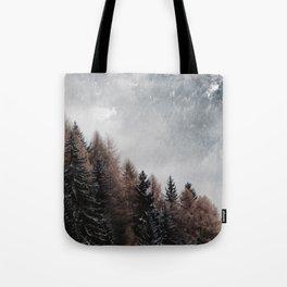 Diagonal Nature Tote Bag