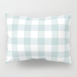 Charcoal Sky Checker Gingham Plaid Pillow Sham