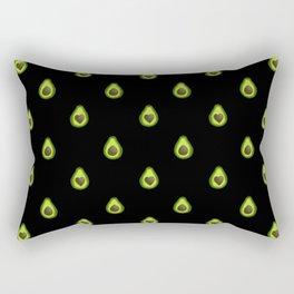 Avocado Hearts (black background) Rectangular Pillow