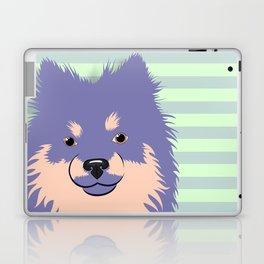Olie the Pomeranian in Purple Laptop & iPad Skin