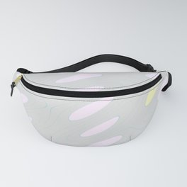Geo Flow Gray Pink Yellow Fanny Pack