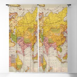 Map of Asia (1934) Blackout Curtain