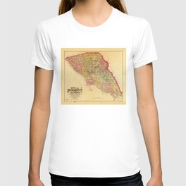 Map of Sonoma County, California (1884) T-shirt
