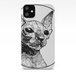 Inside out sphynx cat iPhone Case