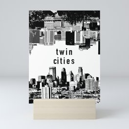 Twin Cities Minneapolis and Saint Paul Minnesota Mini Art Print