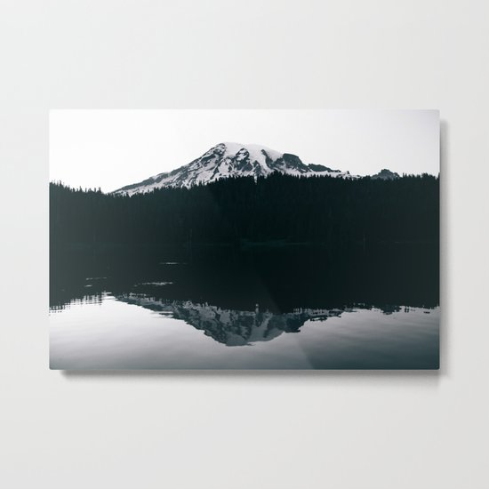 Mount Rainier Reflections Metal Print