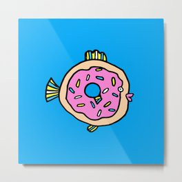 Donut fish Metal Print