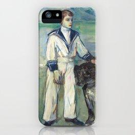 """Henri de Toulouse-Lautrec """"L'Enfant au chien, fils de Madame Marthe et la chienne Pamela-Taussat"""" iPhone Case"""