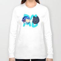 dmmd Long Sleeve T-shirts featuring DMMD- chibi Aoba and Ren by prpldragon