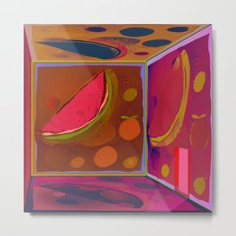 Virtual Experience of Tropical Flavors in the Projection Room Metal Print