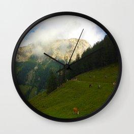 Mountain Side Wall Clock