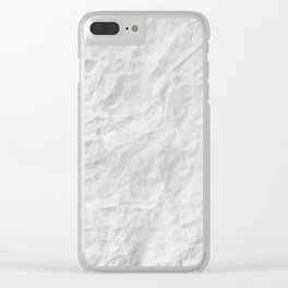 CRUMPLED WRINKLED PAPER III Clear iPhone Case