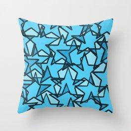 """""""blue stars"""" Throw Pillow"""