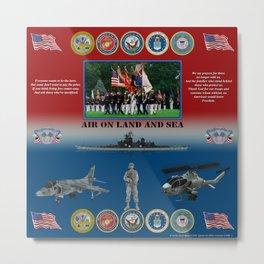 Armed Forces poster #AmericanPride #sot Metal Print