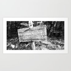 Black and White sign Art Print