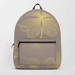 Golden Lucky Clovers Backpack