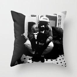 Johan B & W Throw Pillow