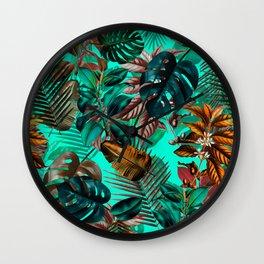 Tropical Garden II Wall Clock