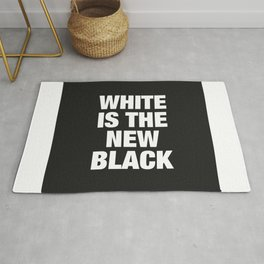 White is the new Black #1 - Square Rug