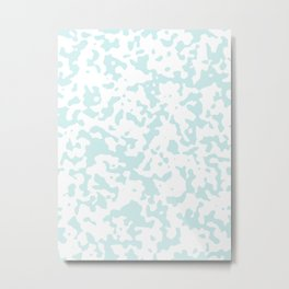 Spots - White and Light Cyan Metal Print