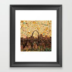 st louis city skyline Framed Art Print