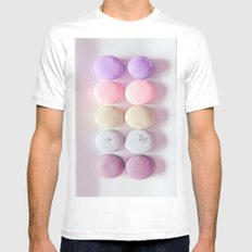 Macaroons Pink Peach White MEDIUM Mens Fitted Tee