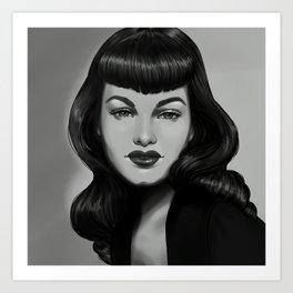 Bettie Art Print