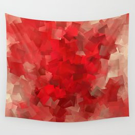 red modern pattern Wall Tapestry