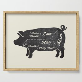 PORK BUTCHER DIAGRAM (pig) Serving Tray