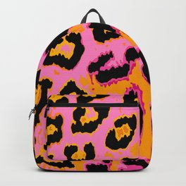 Gold and Pink Leopard Spots Backpack