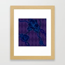 Thorny Rose Vines with Chains Framed Art Print