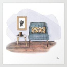 Comforts & Cookies Art Print