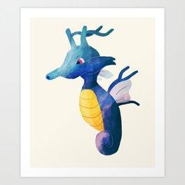 Kingdra Art Print