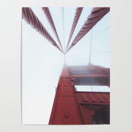 Golden Gate Bridge fogged up - San Francisco, CA Poster