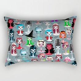 Spooky Dolls Rectangular Pillow