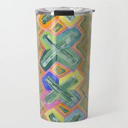 Colorful X-Pattern Travel Mug