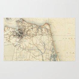 Vintage Map of Norfolk and Virginia Beach (1891) Rug