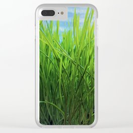 Wheat Grass in Motion Clear iPhone Case