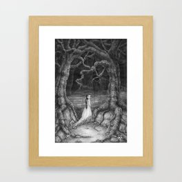 Path of thorns Framed Art Print