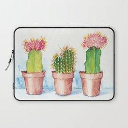 Cactus Trio Watercolor Succulent Painting Laptop Sleeve