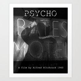Psycho 1960 Art Print