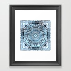 MANDALIKA INDIGO Framed Art Print