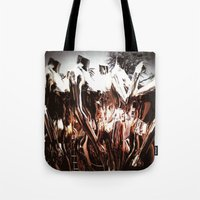 golden girls Tote Bags featuring Golden Girls (The Best Camera Series) by Melissa Martinez