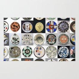 Picasso Ceramic Plates Rug
