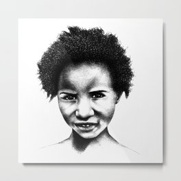 Afeni Girl Metal Print