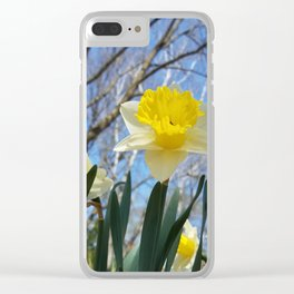 Daffodils in the sky Clear iPhone Case