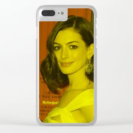 Anne Hathaway - Celebrity Clear iPhone Case